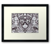 Back To Black Framed Print