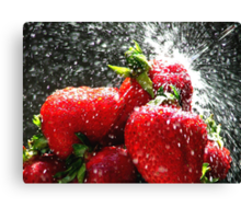 Strawberry Splatter Canvas Print