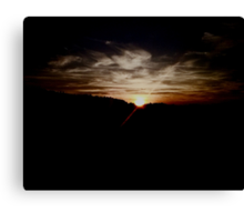 Incredible Sunset Clouds Canvas Print