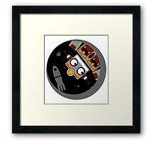 Robot Lost In Space Framed Print