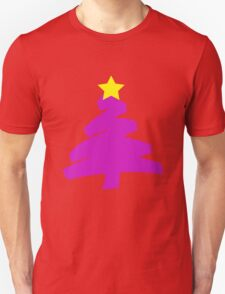 Scribbly Purple Christmas Tree T-Shirt