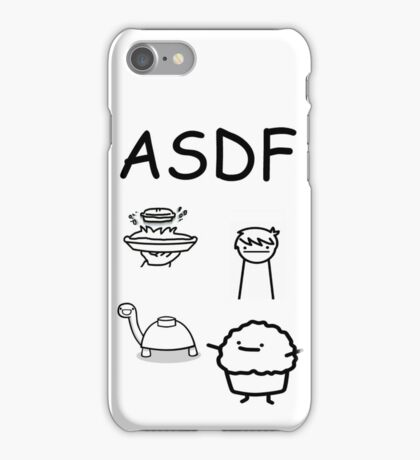 ASDF Trains Pie Turtle Muffin  iPhone Case/Skin