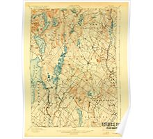 Maine USGS Historical Map Gray 807514 1898 62500 Poster