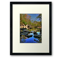 Big Rock - Beargrass Creek - Cherokee Park  Framed Print
