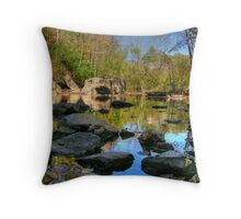 Big Rock - Beargrass Creek - Cherokee Park  Throw Pillow
