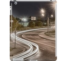 Dead end with some traffic at night iPad Case/Skin