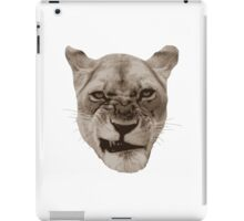 Annoyed Snarling Lion Cat iPad Case/Skin