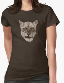Annoyed Snarling Lion Cat T-Shirt
