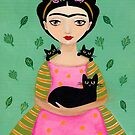 Frida and Black Cats by Ryan Conners