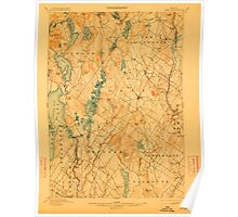 Maine USGS Historical Map Gray 807515 1898 62500 Poster