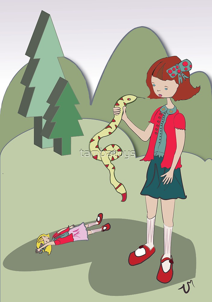 Girl with a snake by tambatoys