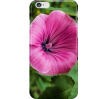 Early Summer Blooms Impressions – Bright Pink Malva Vertical iPhone Case/Skin