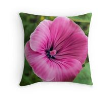 Early Summer Blooms Impressions – Bright Pink Malva Vertical Throw Pillow
