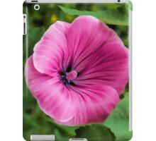 Early Summer Blooms Impressions – Bright Pink Malva Vertical iPad Case/Skin