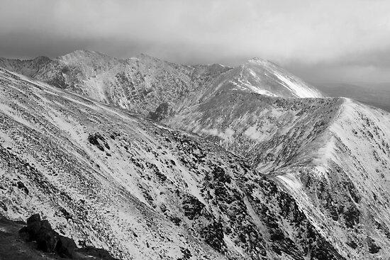 Macgillycuddy Reeks peaks by John Quinn