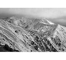 Macgillycuddy Reeks peaks Photographic Print