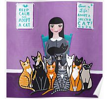 Adopt a Shelter Cat Poster