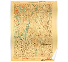 Maine USGS Historical Map Gray 807516 1898 62500 Poster
