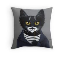 The Hipster Cat Throw Pillow