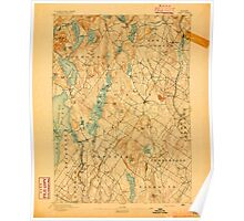Maine USGS Historical Map Gray 807517 1894 62500 Poster