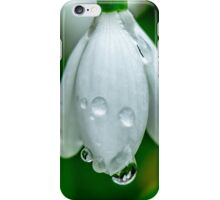 Raindrops on the snowdrops iPhone Case/Skin