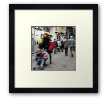 Red Bag & Pram Framed Print