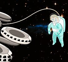 Toon Boy No 21 - Space Walker (I've dropped my spanner) by Dennis Melling