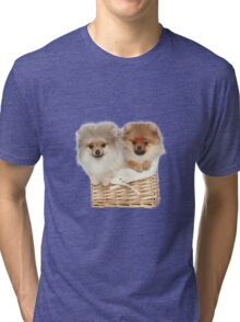 Puppies in a basket Tri-blend T-Shirt