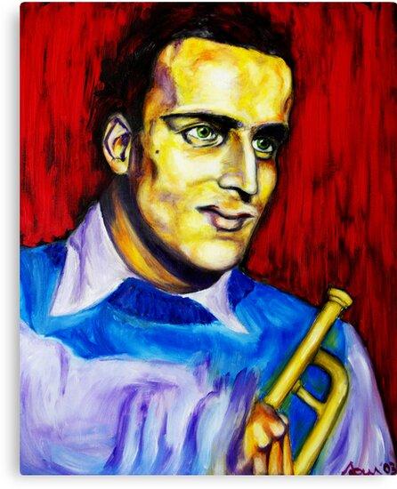 Portrait of Boris Vian by Lidiya