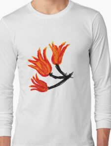 Painted tulip Long Sleeve T-Shirt