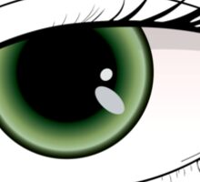 Beautiful green woman eye  Sticker