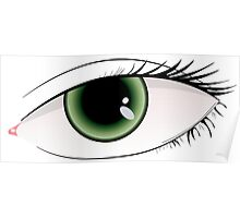 Beautiful green woman eye  Poster