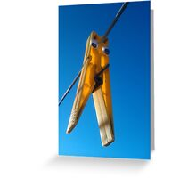 Lonely Peg Greeting Card