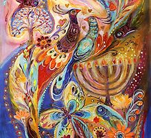 Hanukkah in Magic Garden by Elena Kotliarker