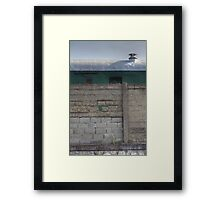 Another Hole in the Wall (and a Green Train) Framed Print