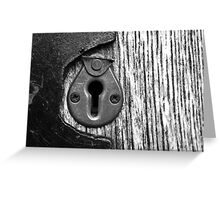 the keyhole Greeting Card