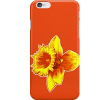 Blood Orange Atomic Daffodil, Fire Flower, Apocalyptic Garden iPhone Case/Skin