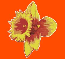 Blood Orange Atomic Daffodil, Fire Flower, Apocalyptic Garden Kids Clothes
