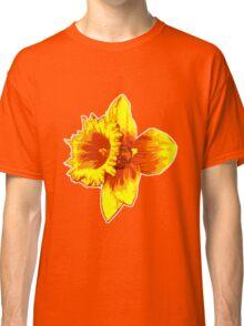 Blood Orange Atomic Daffodil, Fire Flower, Apocalyptic Garden Classic T-Shirt