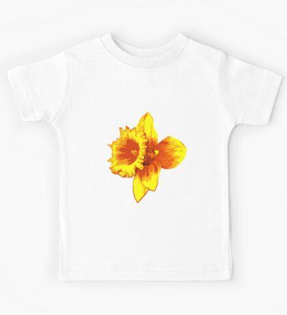 Blood Orange Atomic Daffodil, Fire Flower, Apocalyptic Garden Kids Tee