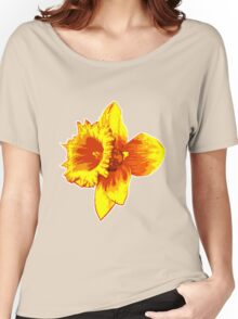 Blood Orange Atomic Daffodil, Fire Flower, Apocalyptic Garden Women's Relaxed Fit T-Shirt