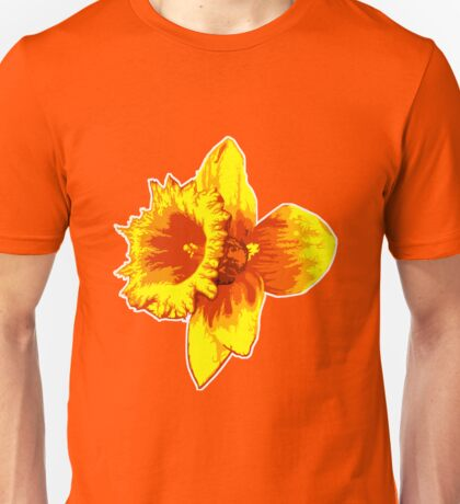 Blood Orange Atomic Daffodil, Fire Flower, Apocalyptic Garden Unisex T-Shirt
