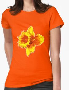 Blood Orange Atomic Daffodil, Fire Flower, Apocalyptic Garden Womens Fitted T-Shirt