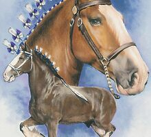 Clydesdale Horse by BarbBarcikKeith