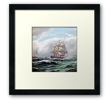 Ships are sailing  Framed Print