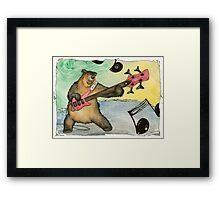 Black Bear Bass Notes Framed Print