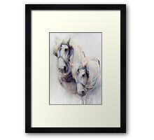 The Boys (harness work horses) Framed Print