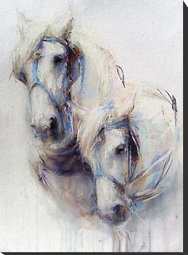 The Boys (harness work horses) by Nina SMART
