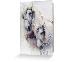 The Boys (harness work horses) Greeting Card