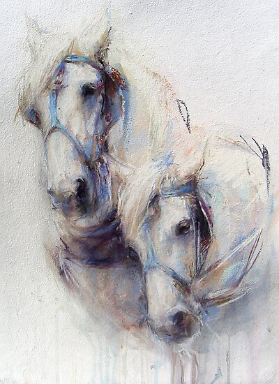 The Boys (harness work horses) by Nina Smart